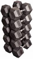Body Solid Rubber Hex Dumbell Set - 80-100 lb pairs