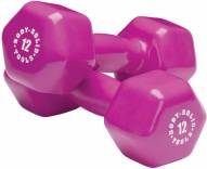 Body Solid 12 lb Vinyl Dumbbell Pair