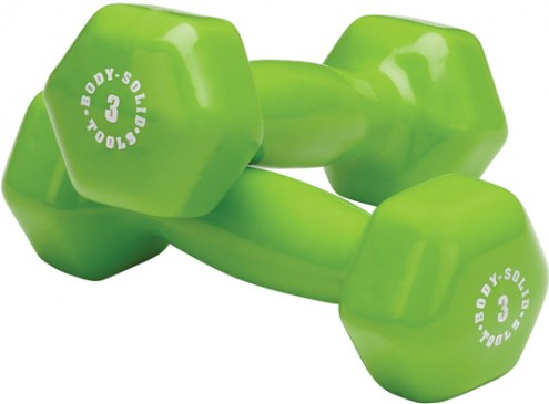 Body Solid 3 lb Vinyl Dumbbell Pair