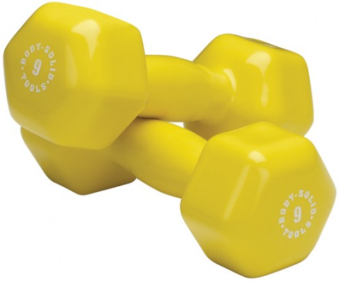 Body Solid 9 lb Vinyl Dumbbell Pair