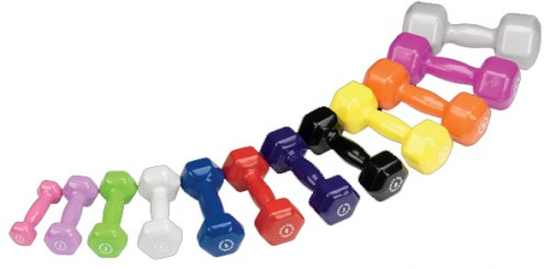 Body Solid Vinyl Dumbell Set- 1-15 lb pairs