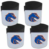Boise State Broncos 4 Pack Chip Clip Magnet with Bottle Opener