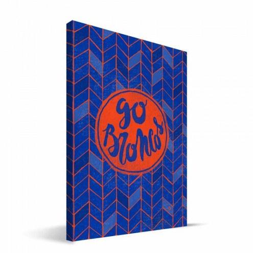 "Boise State Broncos 8"" x 12"" Geometric Canvas Print"