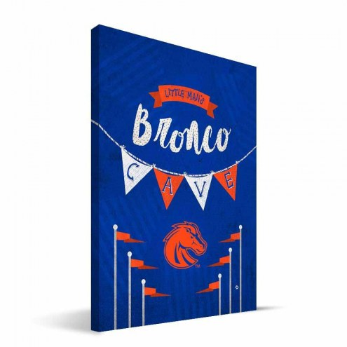 "Boise State Broncos 8"" x 12"" Little Man Canvas Print"