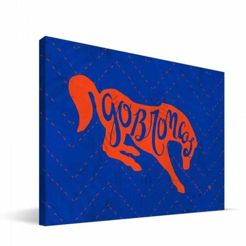 "Boise State Broncos 8"" x 12"" Mascot Canvas Print"