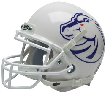 Boise State Broncos White Schutt Mini Football Helmet