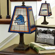 Boise State Broncos Art Glass Table Lamp