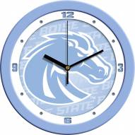 Boise State Broncos Baby Blue Wall Clock