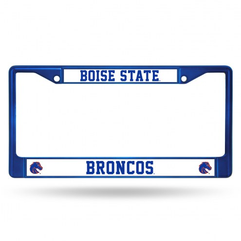 Boise State Broncos Blue Colored Chrome License Plate Frame