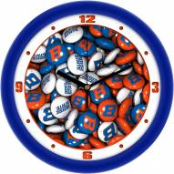 Boise State Broncos Candy Wall Clock