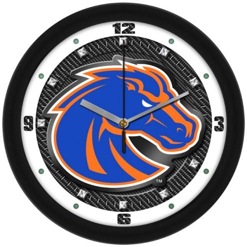 Boise State Broncos Carbon Fiber Wall Clock