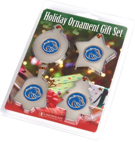Boise State Broncos Christmas Ornament Gift Set