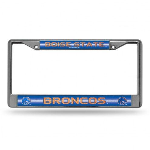 Boise State Broncos Chrome Glitter License Plate Frame