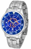 Boise State Broncos Competitor Steel AnoChrome Color Bezel Men's Watch