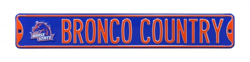 Boise State Broncos Country Street Sign