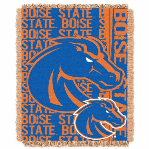 Boise State Broncos Double Play Woven Throw Blanket