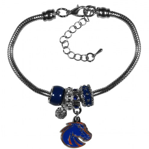 Boise State Broncos Euro Bead Bracelet