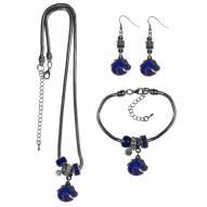 Boise State Broncos Euro Bead Jewelry 3 Piece Set