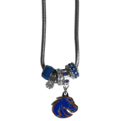 Boise State Broncos Euro Bead Necklace