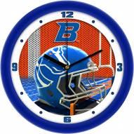 Boise State Broncos Football Helmet Wall Clock