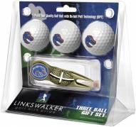 Boise State Broncos Gold Crosshair Divot Tool & 3 Golf Ball Gift Pack