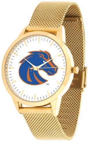 Boise State Broncos Gold Mesh Statement Watch