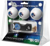 Boise State Broncos Golf Ball Gift Pack with Spring Action Divot Tool