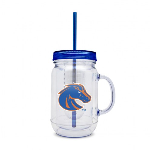 Boise State Broncos Infuser Double Wall Mason Jar