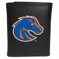 Boise State Broncos Large Logo Leather Tri-fold Wallet