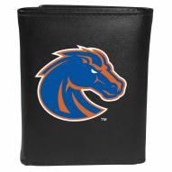 Boise State Broncos Large Logo Leather Tri-fold Wallet