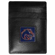 Boise State Broncos Leather Money Clip/Cardholder in Gift Box