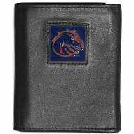 Boise State Broncos Leather Tri-fold Wallet