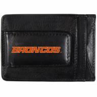 Boise State Broncos Logo Leather Cash and Cardholder