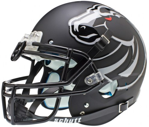 Boise State Broncos Matte Black Schutt XP Authentic Full Size Football Helmet