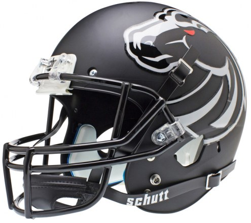 Boise State Broncos Matte Black Schutt XP Collectible Full Size Football Helmet
