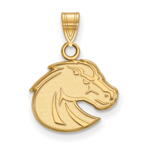 Boise State Broncos NCAA Sterling Silver Gold Plated Small Pendant