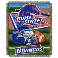 Boise State Broncos NCAA Woven Tapestry Throw Blanket