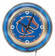 Boise State Broncos Neon Clock
