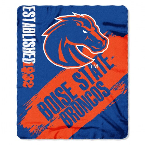 Boise State Broncos Painted Fleece Blanket