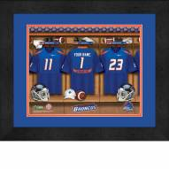 Boise State Broncos Personalized Locker Room 13 x 16 Framed Photograph