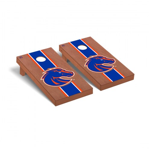 Boise State Broncos Rosewood Stained Cornhole Game Set