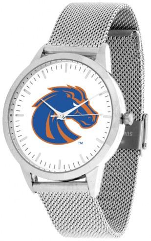 Boise State Broncos Silver Mesh Statement Watch