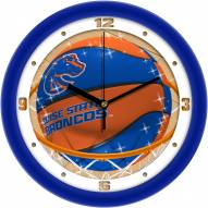 Boise State Broncos Slam Dunk Wall Clock