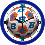 Boise State Broncos Soccer Wall Clock