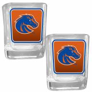 Boise State Broncos Square Glass Shot Glass Set