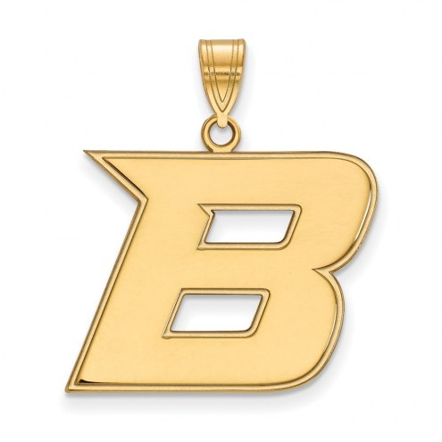 Boise State Broncos Sterling Silver Gold Plated Large Pendant