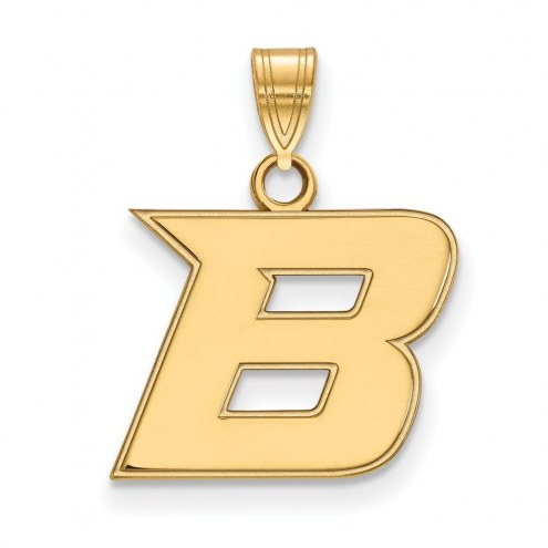 Boise State Broncos Sterling Silver Gold Plated Small Pendant