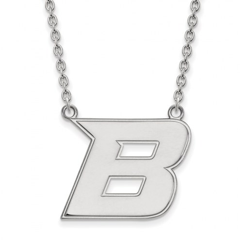 Boise State Broncos Sterling Silver Large Pendant Necklace