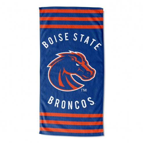 Boise State Broncos Stripes Beach Towel