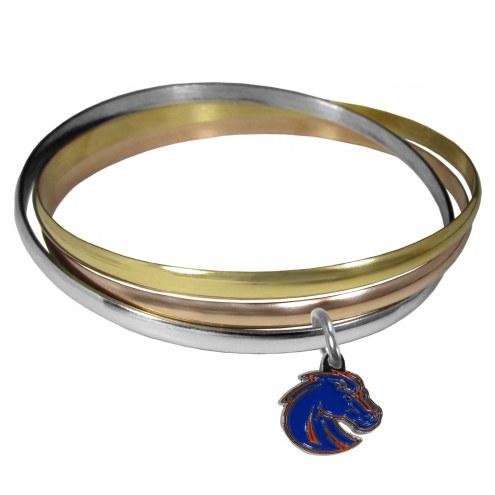 Boise State Broncos Tri-color Bangle Bracelet
